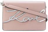 Karl Lagerfeld logo plaque shoulder bag