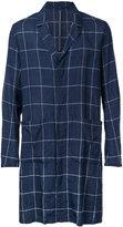 Kazuyuki Kumagai - checked single breasted coat - men - Cotton/Linen/Flax - 1
