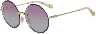 Chloé Rosie Rimless Scalloped Sunglasses
