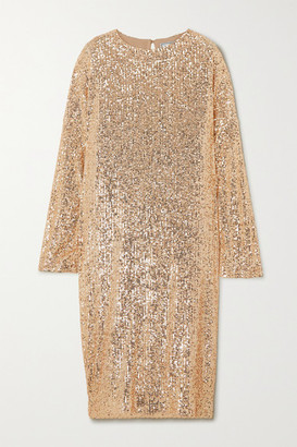 In The Mood For Love Elisa Sequined Tulle Dress - Gold