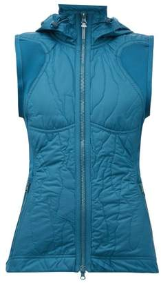 adidas by Stella McCartney Run Quilted-shell Gilet - Womens - Blue
