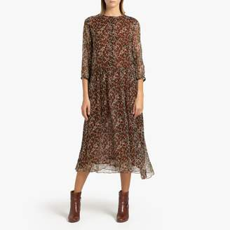 soeur DAHLIA MOUSSELINE Printed Dress with Long Sleeves