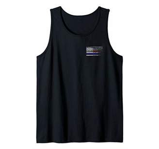 Police Fire EMS First Responder American Flag Firefighter Tank Top