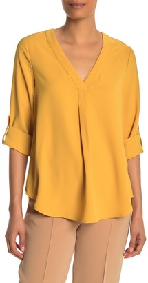 Everleigh Front Pleat Roll Tab Sleeve Tunic