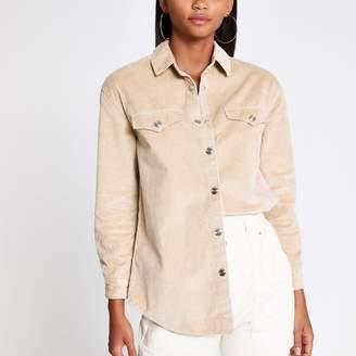 River Island Womens Beige cord shirt