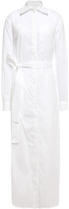 Victoria Victoria Beckham Pinstriped Cotton-gauze Midi Shirt Dress