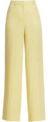 Lafayette 148 New York Dalton Wide-Leg Linen Pants