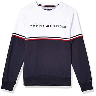 Tommy Hilfiger Men's Adaptive Sweatshirt with Velcro Brand Closure at Shoulders
