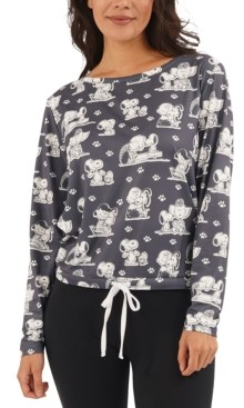 Munki Munki Vintage Snoopy Dog Lover Pajama Top