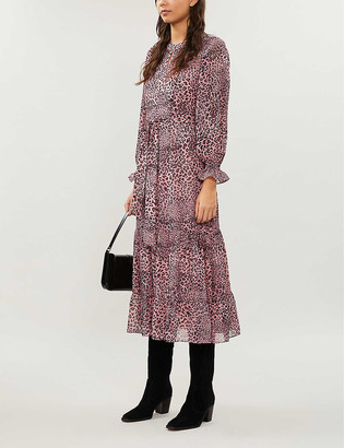 Whistles Leopard-print crepe dress