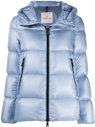 Moncler Logo Patch Hooded Puffer Jacket