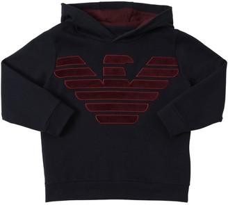 Emporio Armani Velvet Logo Cotton Sweatshirt