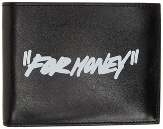 Off-White Black and White Quote Bifold Wallet