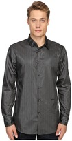 Just Cavalli Regular Fit Leather Effect Woven Shirt Men's Clothing