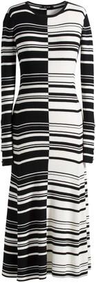 St. John Graphic Striped Rib Dress
