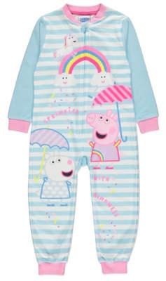 George Peppa Pig Rainbow Sprinkles Fleece All in One