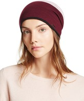 Kate Spade Color Block Striped Reversible Beanie