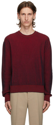 Kenzo Red and Blue Rib Knit Sweater