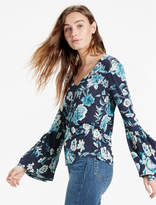 Lucky Brand Floral Bell Sleeve Top