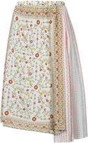 No.21 asymmetric floral skirt - women - Silk - 44