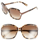Kate Spade Women's 'Laurie' 57Mm Sunglasses - Camel Tortoise