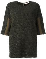A.F.Vandevorst 'Agenda' knitted blouse - women - Virgin Wool/Viscose/other fibers - 36