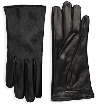 Portolano Dyed Calf Hair Leather Gloves