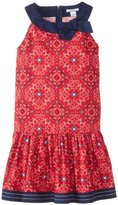 Hartstrings Big Girls' Printe-Cotton Poplin Dress