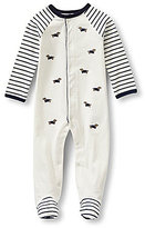 Little Me Baby Boys Newborn-9 Months Dachshund Footed Coverall