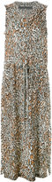 Raquel Allegra leopard drawstring dress - women - Silk - 1