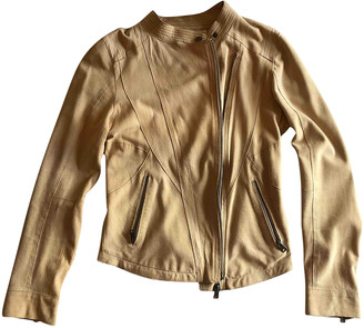 Suite 412 Beige Leather Jacket for Women