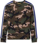 Valentino - Slim-fit Camouflage-print Cotton-blend Jersey Sweatshirt