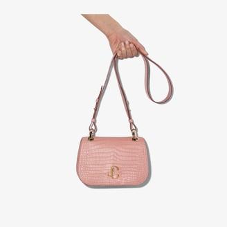 Jimmy Choo Pink Varenne Mock Croc Leather Bag