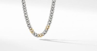 David Yurman Curb Chain Necklace With 14K Yellow Gold