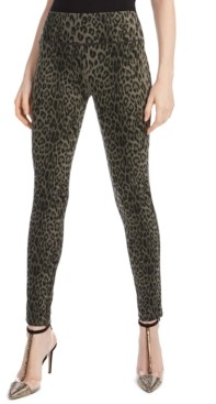 INC International Concepts Petite Animal-Print Skinny Pants, Created for Macy's