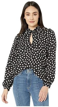 Kate Spade Cloud Dot Blouse (Black) Women's Clothing