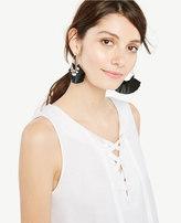 Ann Taylor Sleeveless Lace-Up Peplum Top