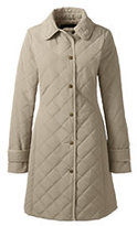 Lands' End Women's Tall Quilted PrimaLoft Coat-Smokey Olive