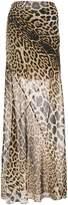 Saint Laurent leopard printed maxi skirt