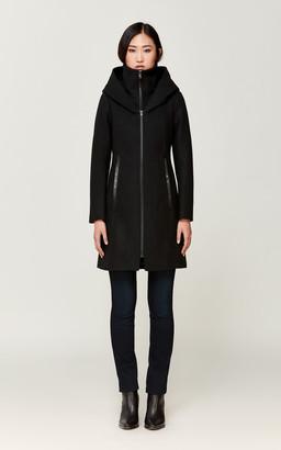 Soia & Kyo DARCEY diagonal wool coat with inner bib