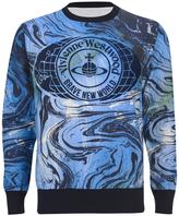 Vivienne Westwood Man Marble Print Sweater Marble Blue