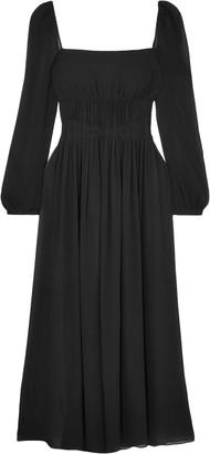 Stella McCartney Open-back Gathered Silk-georgette Maxi Dress