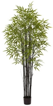 Nearly Natural 6' Indoor/Outdoor Uv-Resistant Artificial Black Bamboo Tree