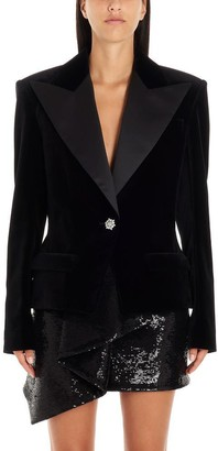 Alexandre Vauthier Embellished Button Single Breasted Blazer