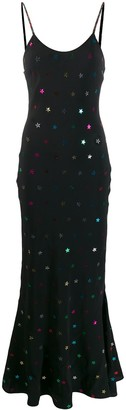 ATTICO Star Embellished Jersey Dress