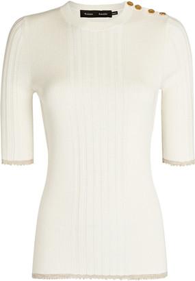 Proenza Schouler Silk-Cashmere Rib Knit Top