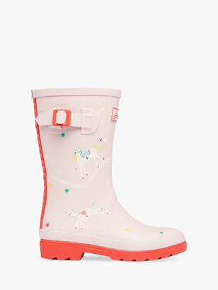 Joules Little Joule Junior Unicorn Wellington Boots, Pink