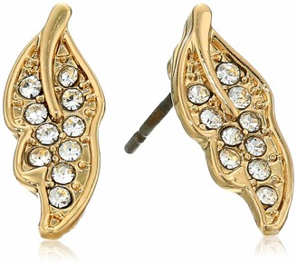 lonna & lilly Women's Gold Tone Crystal Stud Earrings One Size
