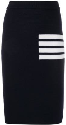 Thom Browne 4-Bar Fitted Skirt