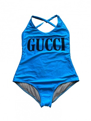 Gucci Turquoise Polyester Swimwear